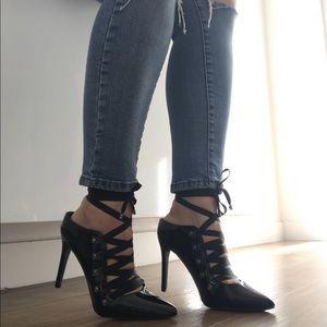 Shoes - Black Patent leather lace up shoes